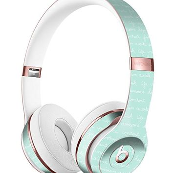 The Mint Happy, Love, Joy Teal Pattern DesignSkinz Full-Body Skin Kit for the Beats by Dre Solo 3 Wireless Headphones / Ultra-Thin / Matte Finished / Protective Skin Wrap