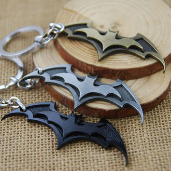 Marvel Series Super Hero Batman Bat Keychain Metal Pendant Superhero Keyring Alloy Model For Boys Gift 1PC