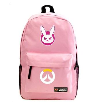 Overwatch Dva Bunny Backpack Pink