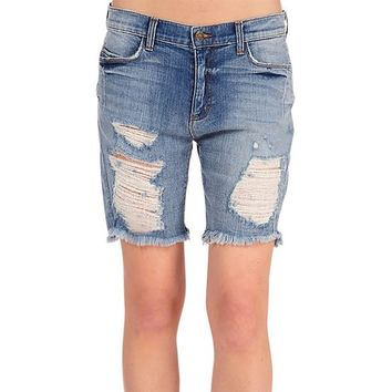 Women's Kate Boyfriend Vintage Gap Jeans Distressed Shredded Denim Low Rise