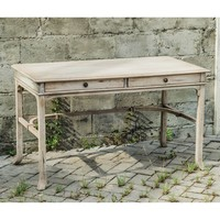 Uttermost Bridgely Writing Desk - Aged White | www.hayneedle.com