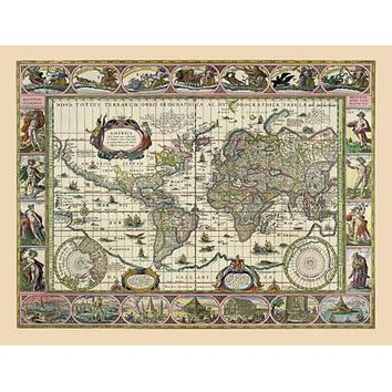 Ancient Biblical Maps circa 1660