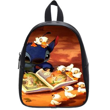 Stitch And Duck School Backpack Large