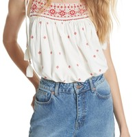 Free People Eternal Love Embroidered Top | Nordstrom