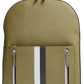 Men's Ben Minkoff 'Bondi' Leather Backpack - Green