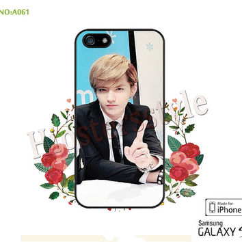Phone case iPhone 5/5S/5C Case, iPhone 4/4S Case, EXO-M, Kris, pop star S3 S4 S5 Note 2 Note 3 Case for iPhone-A061
