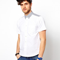 Black Chocoolate Short Sleeve Oxford Shirt