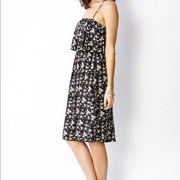 Casual Print Strap Dress