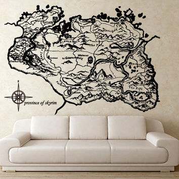 Province of Skyrim Vinyl Wall Art Decal (WD-0582)