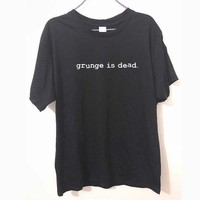 PEAPON New Summer Grunge is Dead kurt cobain nirvana 90s rock Funny T Shirt Men Funny Cotton Short Sleeve T-shirt Tshirt camiseta