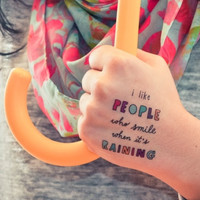 Two Designy Temporary Tattoos (People Who Smile)