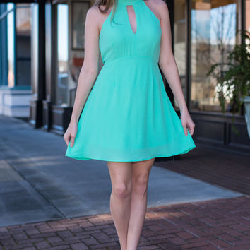 Open To Love Dress, Mint