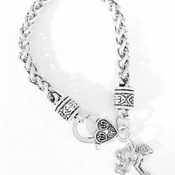 Gift For Her Monkey Animal Gift Best Friend Sister Daughter Mom Charm Bracelet