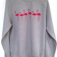 Flamingo sweatshirt - lovely soft organic cotton sweatshirt featuring our super cute elephant motife