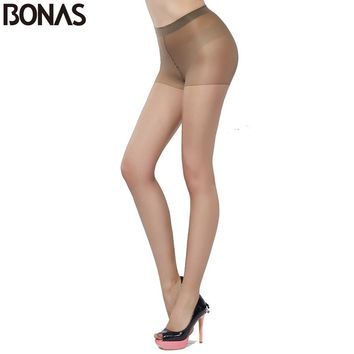 Nylon Pantyhose Women Elasticity Thin Transparent Sexy Tights Girls Fashion Solid Color Slim Female Summer