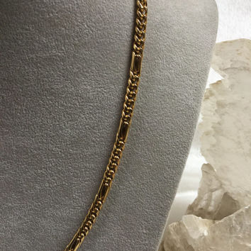 "Mans gold chain, heavy gold chain, 22 3/4"" gold chain, 14k yellow gold chain, Christmas  gifts for men, Mens fine jewelry"