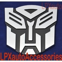 "5"" Autobot Transformers 3D Chrome Emblem (Not a Decal, High Quality Chrome Emblem)"