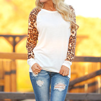 Baby It's a Wild World Leopard Top - Ivory