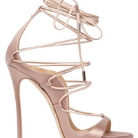 LUISAVIAROMA.COM - DSQUARED2 - 120MM RIRI LACE-UP SATIN SANDALS