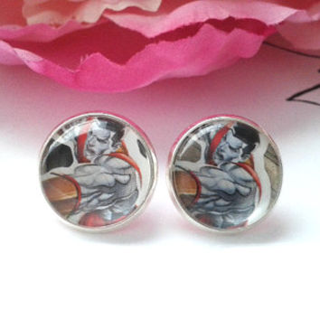 Metal Man Stud Earrings - Studs - Earrings - Stud Earrings - Fake Plugs - Fake Plug Earrings - Earring Posts - X Men Earrings - X Men