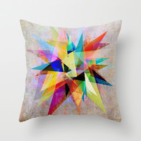 Colorful 2 Throw Pillow by Mareike Böhmer Graphics