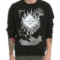 Harry Potter Marauders Map Crew Pullover