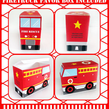 Firetruck party printables, fireman, huge personalised party package,  party printable, editable, you print, digital PDF