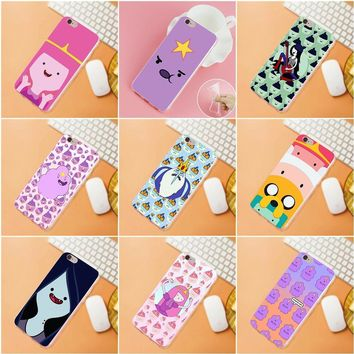Adventure Time Soft Cell Phone Cover Case For iPhone 4 4S 5 5C SE 6 6S 7 8 Plus X HTC Desire 628 630 816 820 One A9 M7 M8 M9 M10