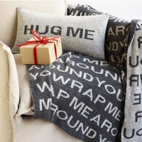 """Hug Me"" Pillow and ""Wrap Me Around You"" Throw"