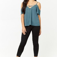 Crisscross Open-Shoulder Top