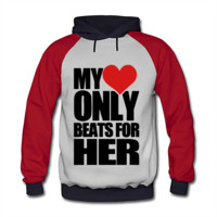 My Heart Only Beats For Her Men's Pullover Hoodie - Men's Pullover Hoodie