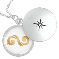 INFINITE ROUND LOCKET NECKLACE