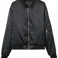 Zipped Windbreaker Jacket