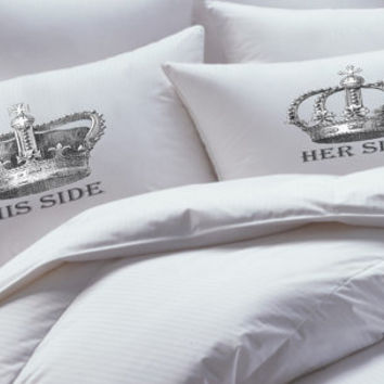 King and Queen Crown, Personalized, Custom, Pillowcase set, pillowcase,, pillowcases,