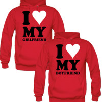 I LOVE MY GIRLFRIEND BOYRIEND DESIGNED Couple Hoodie