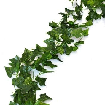 75 feet - 12 English Ivy Silk Greenery Wedding Party Garlands