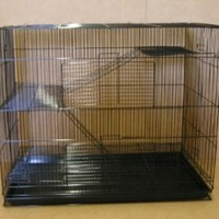 """Large Small Animal Cage Sugar Glider Chinchilla Ferret Rats Cage *30""""Length x 18""""Depth x 24""""Height * Black"""