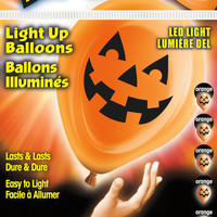 Pumpkin Face Light Up Balloons