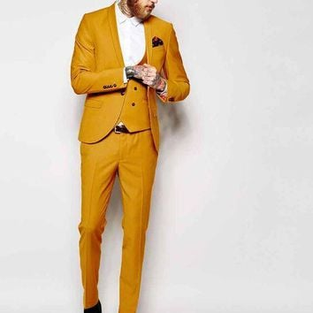 Custom Tailoring Classic Mens Dinner Party Three Piece Suit, Jacket+Pants+Vest