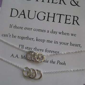 Mother Daughter Jewelry. Mom DAUGHTER. Mommy Necklace. Moms Birthday. Inspirational. Mother of the Bride. Adoption Gift. Bridal Party Gifts.