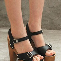 Wooden platform sandals from 2NDAPRIL