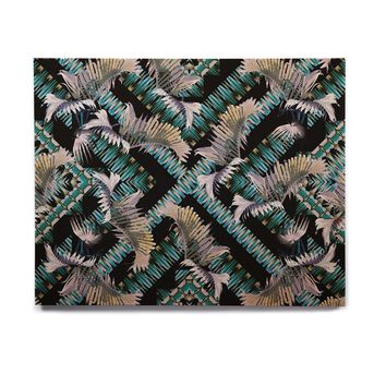 "Victoria Krupp ""Palm Twist"" Hexagon Birchwood Wall Art"