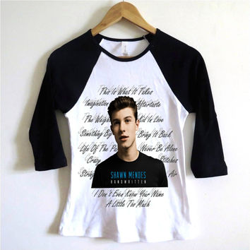 Shawn Mendes Handwritten Album Baseball Tee