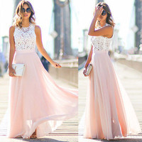 Women Summer Boho Long Maxi Dress  Party Beach Dress Sundress