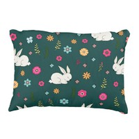 Easter bunny accent pillow