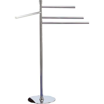 Standing Towel Rack Stand Bar Towel Holder 4-tier Four Bars Towel Bar, Brass