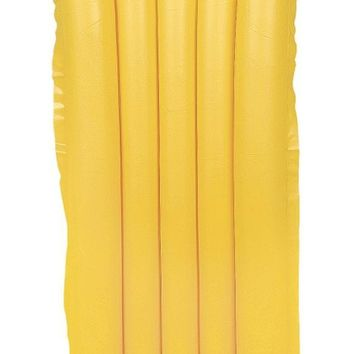 "72"" Yellow Economy Inflatable Air Mattress Swimming Pool Raft Float"