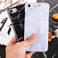 Marble Pattern ultra thin plastic back Cover stone Texture Hard PC Phone Cases For iPhone 6 6S 6plus 7 7 Plus 5 5S SE case Coque