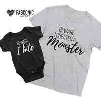 Halloween family shirts, I created a monster shirt, Halloween shirts, Matching family Halloween shirts, Halloween t-shirts, Halloween family