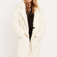Minkpink Just Obsessed Cream Coat - Urban Outfitters